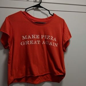 Make Pizza Great Again Crop Top